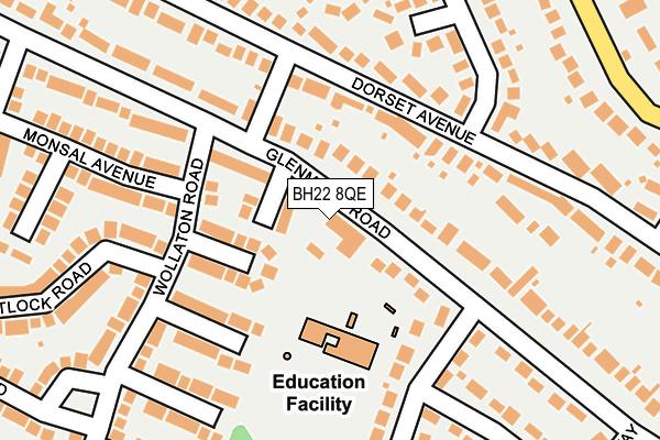 BH22 8QE map - OS OpenMap – Local (Ordnance Survey)