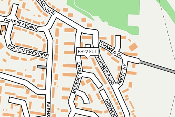 BH22 8UT map - OS OpenMap – Local (Ordnance Survey)