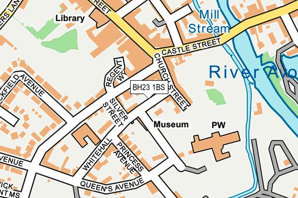 BH23 1BS map - OS OpenMap – Local (Ordnance Survey)
