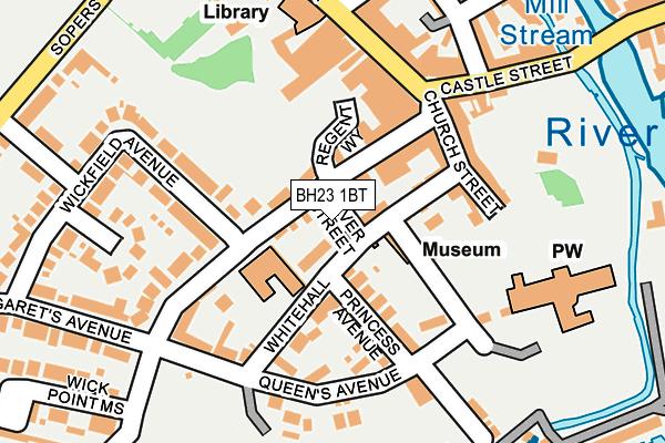 BH23 1BT map - OS OpenMap – Local (Ordnance Survey)