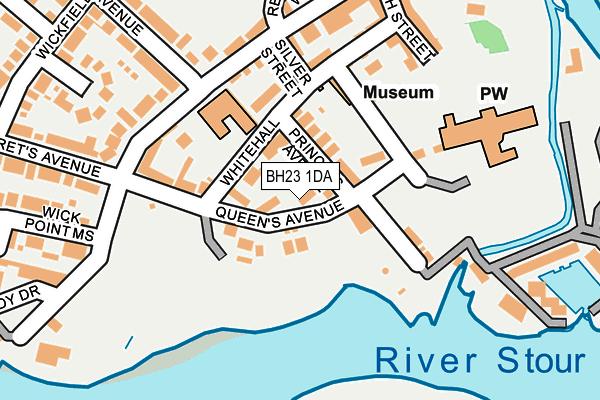 BH23 1DA map - OS OpenMap – Local (Ordnance Survey)
