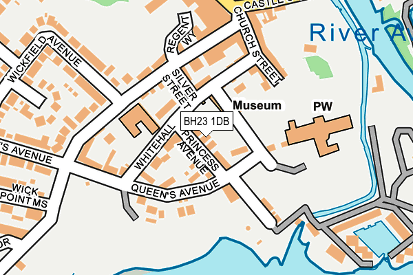 BH23 1DB map - OS OpenMap – Local (Ordnance Survey)