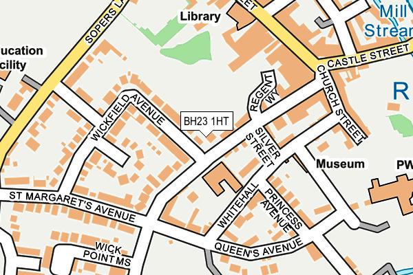 BH23 1HT map - OS OpenMap – Local (Ordnance Survey)