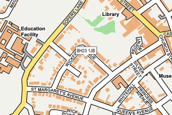BH23 1JB map - OS OpenMap – Local (Ordnance Survey)