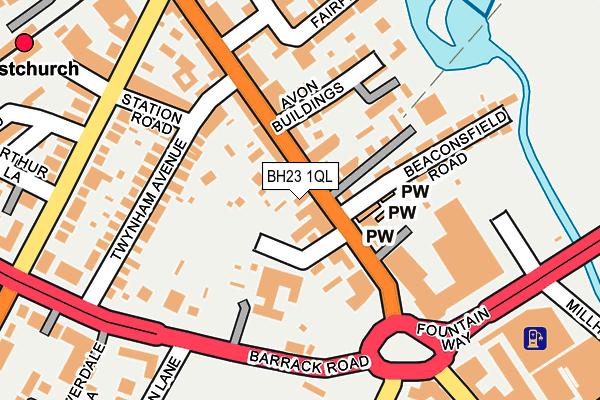 BH23 1QL map - OS OpenMap – Local (Ordnance Survey)