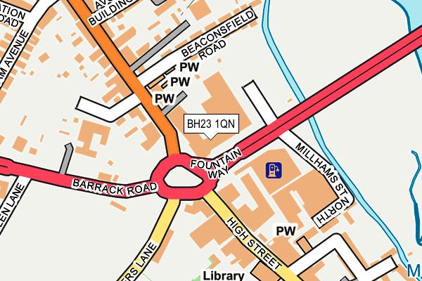 BH23 1QN map - OS OpenMap – Local (Ordnance Survey)