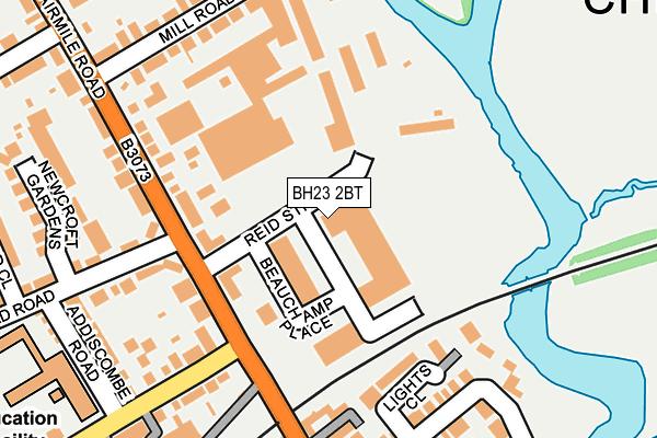 BH23 2BT map - OS OpenMap – Local (Ordnance Survey)