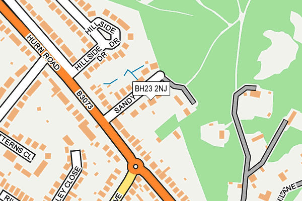 BH23 2NJ map - OS OpenMap – Local (Ordnance Survey)