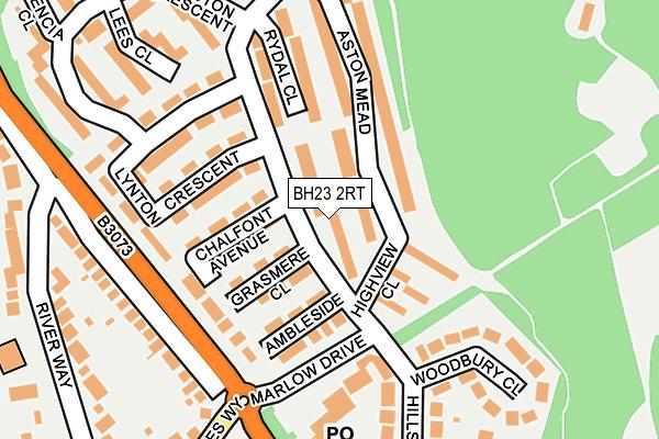 BH23 2RT map - OS OpenMap – Local (Ordnance Survey)