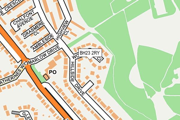 BH23 2RY map - OS OpenMap – Local (Ordnance Survey)
