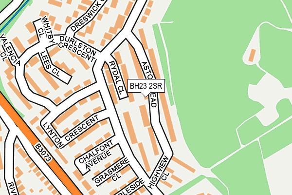 BH23 2SR map - OS OpenMap – Local (Ordnance Survey)