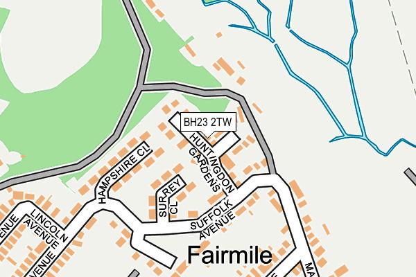 BH23 2TW map - OS OpenMap – Local (Ordnance Survey)