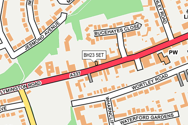 BH23 5ET map - OS OpenMap – Local (Ordnance Survey)