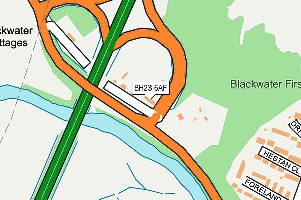 BH23 6AF map - OS OpenMap – Local (Ordnance Survey)