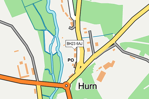 BH23 6AJ map - OS OpenMap – Local (Ordnance Survey)