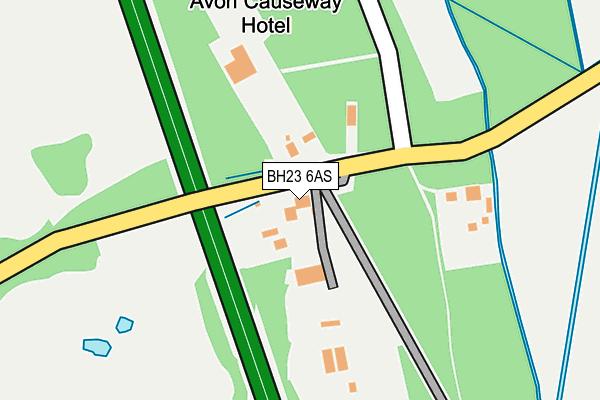 BH23 6AS map - OS OpenMap – Local (Ordnance Survey)