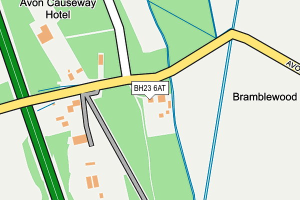 BH23 6AT map - OS OpenMap – Local (Ordnance Survey)
