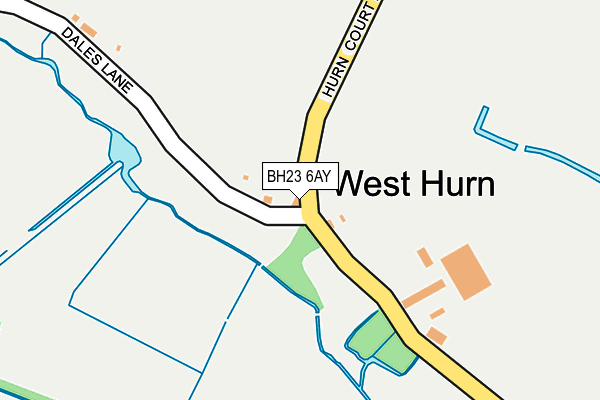 BH23 6AY map - OS OpenMap – Local (Ordnance Survey)
