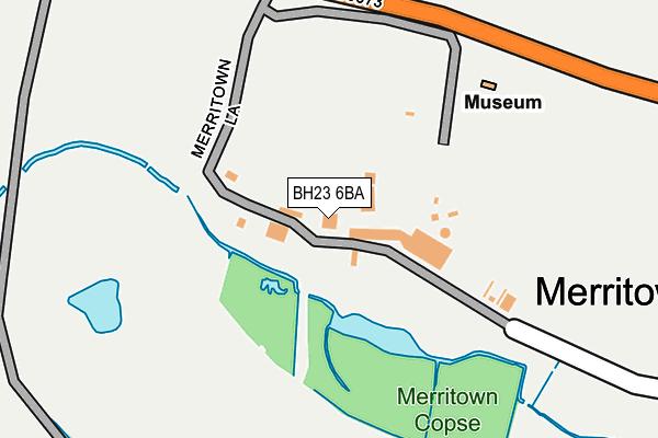 BH23 6BA map - OS OpenMap – Local (Ordnance Survey)