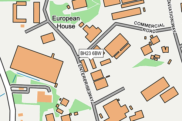 BH23 6BW map - OS OpenMap – Local (Ordnance Survey)