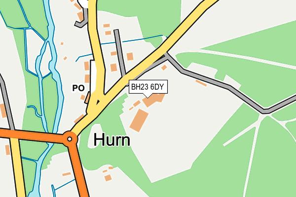 BH23 6DY map - OS OpenMap – Local (Ordnance Survey)