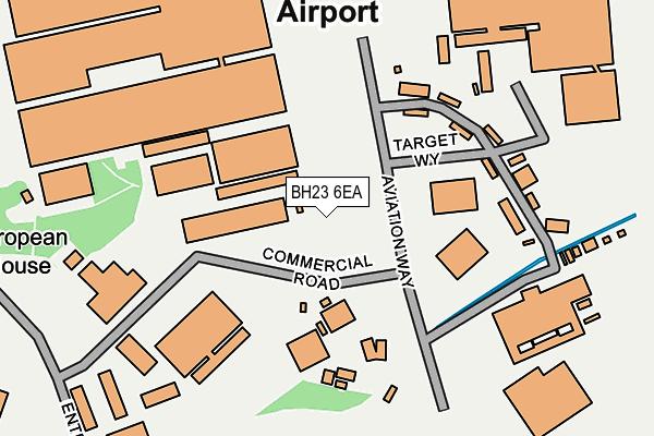 BH23 6EA map - OS OpenMap – Local (Ordnance Survey)