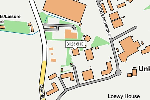BH23 6HG map - OS OpenMap – Local (Ordnance Survey)