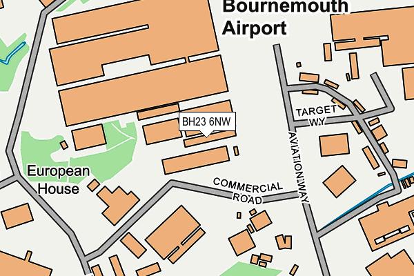 BH23 6NW map - OS OpenMap – Local (Ordnance Survey)