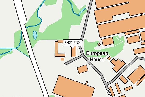 BH23 6NX map - OS OpenMap – Local (Ordnance Survey)