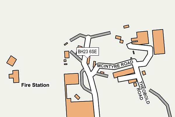 BH23 6SE map - OS OpenMap – Local (Ordnance Survey)