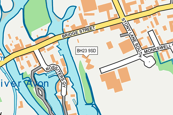 BH23 9SD map - OS OpenMap – Local (Ordnance Survey)