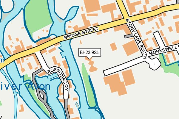 BH23 9SL map - OS OpenMap – Local (Ordnance Survey)