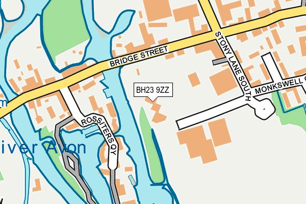 BH23 9ZZ map - OS OpenMap – Local (Ordnance Survey)