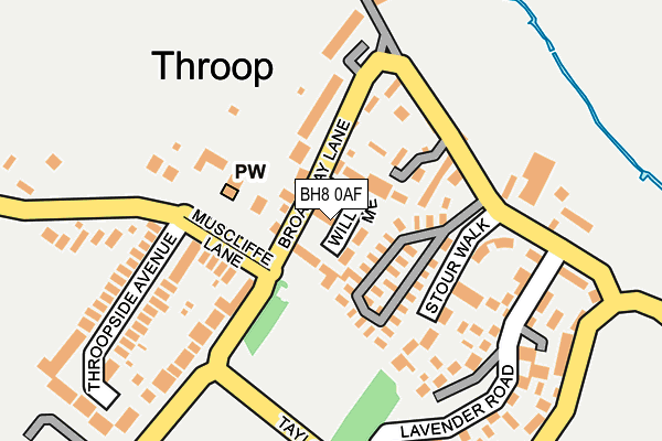BH8 0AF map - OS OpenMap – Local (Ordnance Survey)