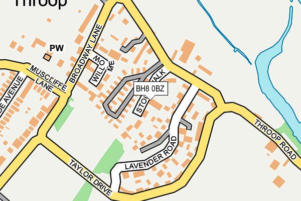 BH8 0BZ map - OS OpenMap – Local (Ordnance Survey)