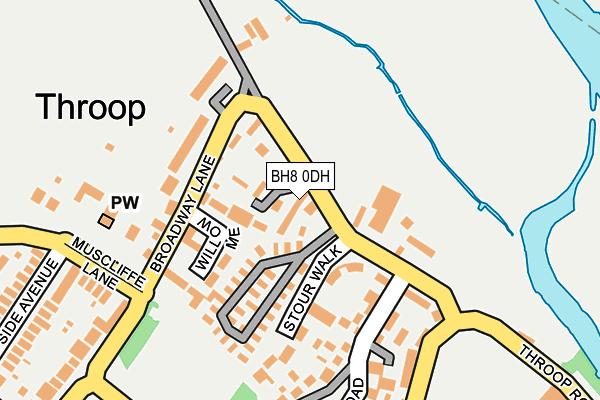 BH8 0DH map - OS OpenMap – Local (Ordnance Survey)