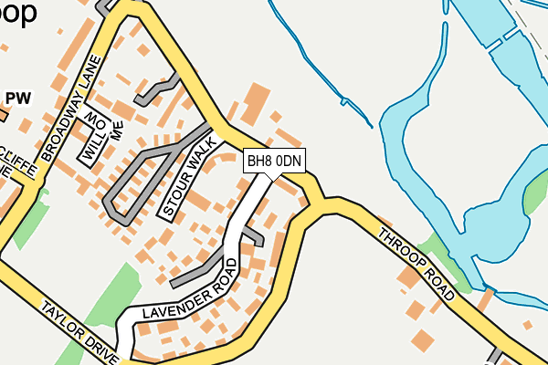 BH8 0DN map - OS OpenMap – Local (Ordnance Survey)