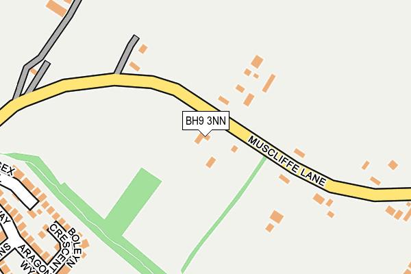 BH9 3NN map - OS OpenMap – Local (Ordnance Survey)