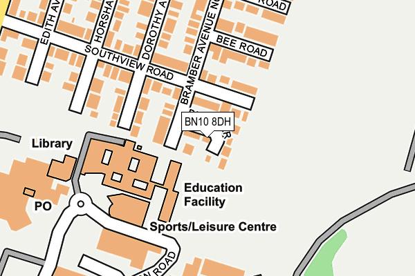 BN10 8DH map - OS OpenMap – Local (Ordnance Survey)