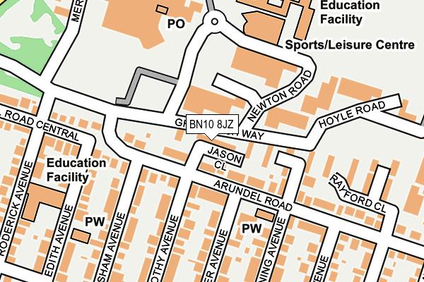 BN10 8JZ map - OS OpenMap – Local (Ordnance Survey)