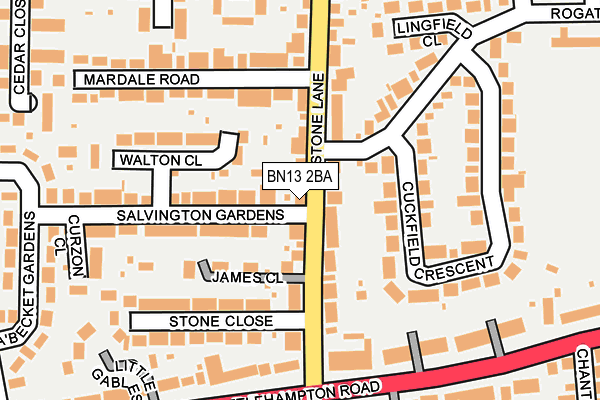 BN13 2TL maps, stats, and open data