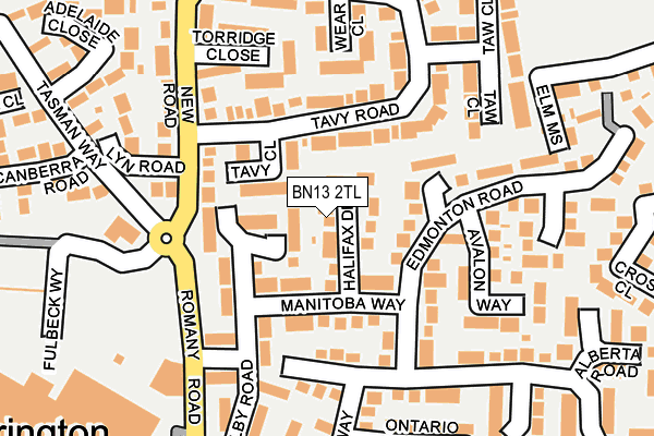 BN13 2ED maps, stats, and open data