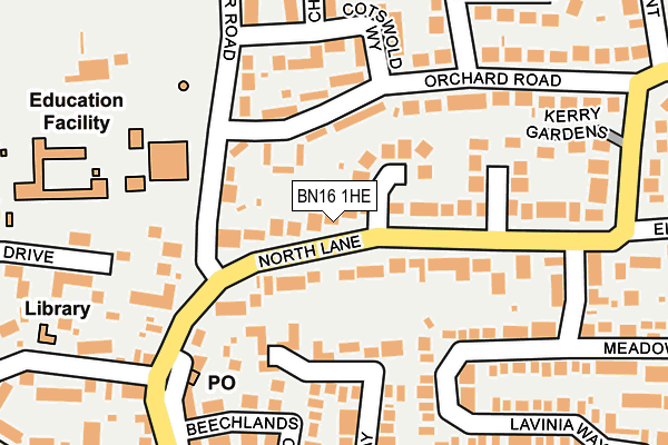 Map of D. J. (CREATIONS) LIMITED at local scale
