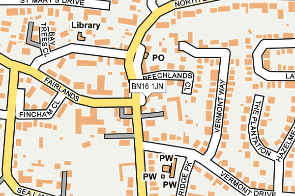 Map of THE STANDARD P LTD at local scale