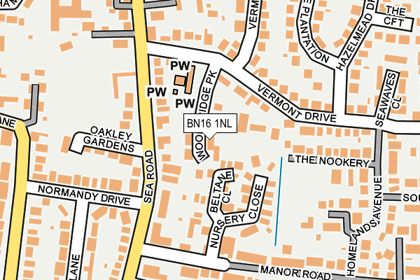 Map of WOODBRIDGE PARK MANAGEMENT LIMITED at local scale