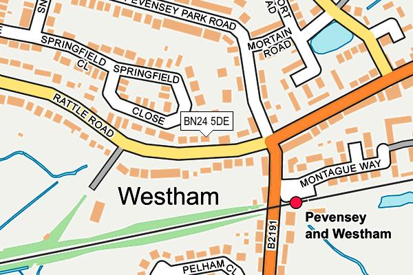 BN24 5DE map - OS OpenMap – Local (Ordnance Survey)