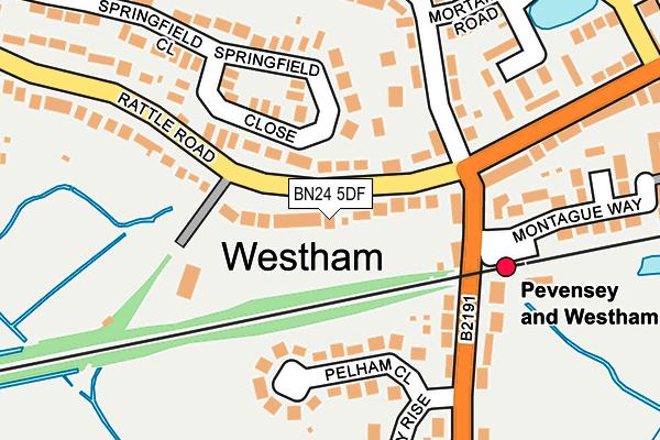 BN24 5DF map - OS OpenMap – Local (Ordnance Survey)