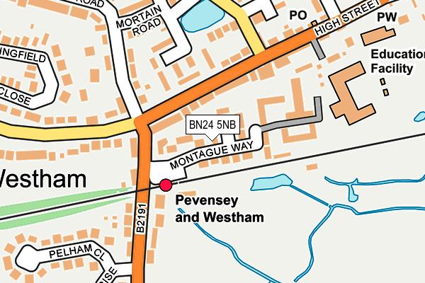 BN24 5NB map - OS OpenMap – Local (Ordnance Survey)