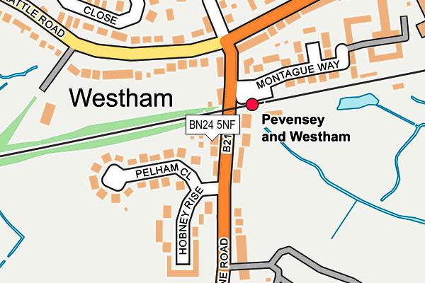 BN24 5NF map - OS OpenMap – Local (Ordnance Survey)