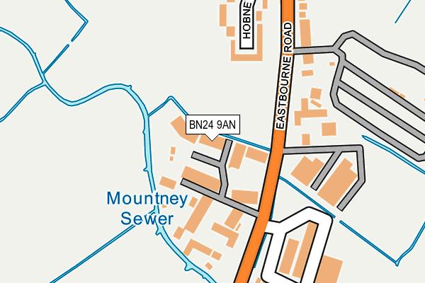 BN24 9AN map - OS OpenMap – Local (Ordnance Survey)